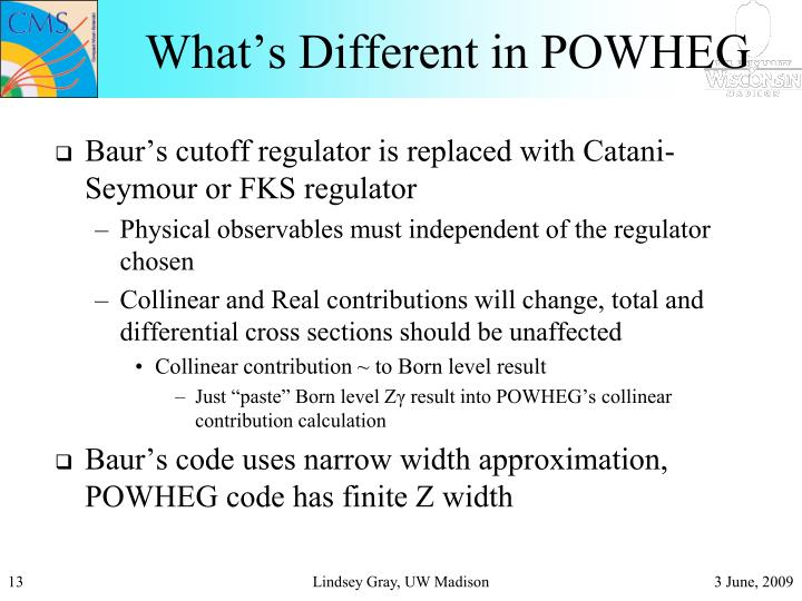 What's Different in POWHEG