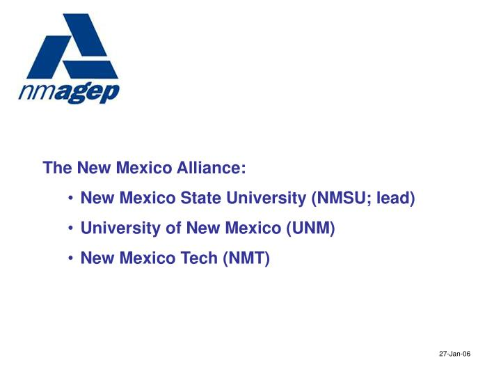 The New Mexico Alliance: