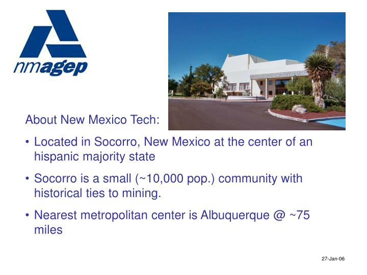 About New Mexico Tech: