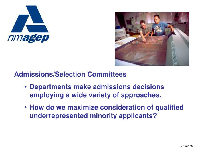 Admissions/Selection Committees