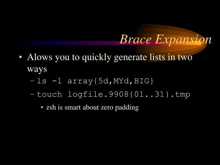 Brace Expansion