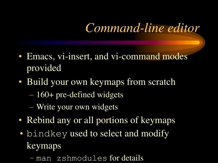 Command-line editor