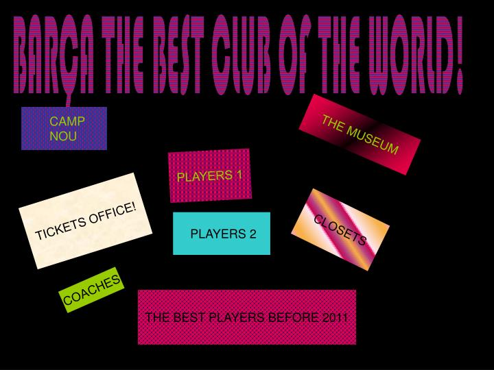 BARÇA THE BEST CLUB OF THE WORLD!