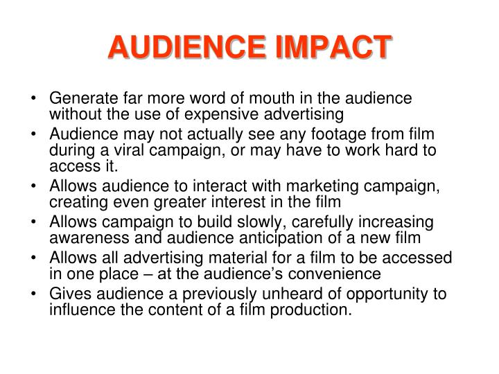AUDIENCE IMPACT
