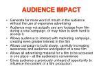 audience impact