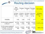 routing decision