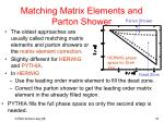 matching matrix elements and parton shower