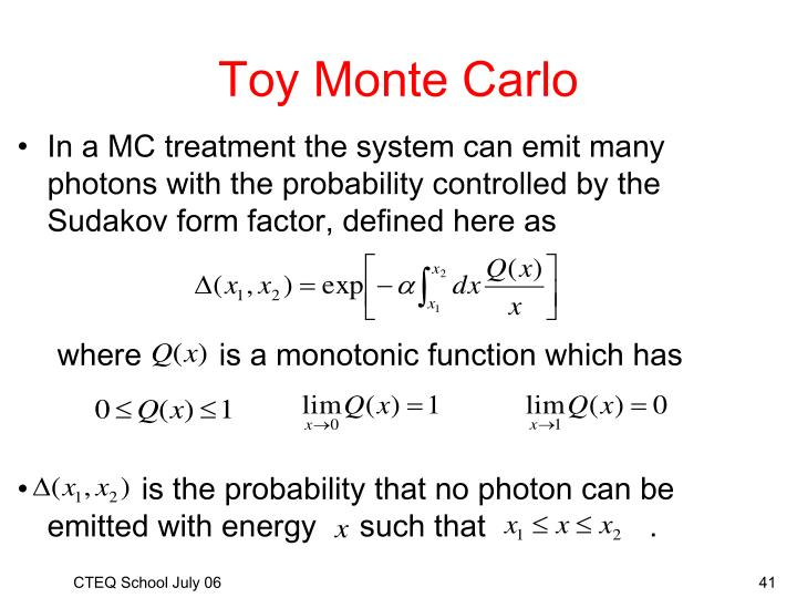 Toy Monte Carlo