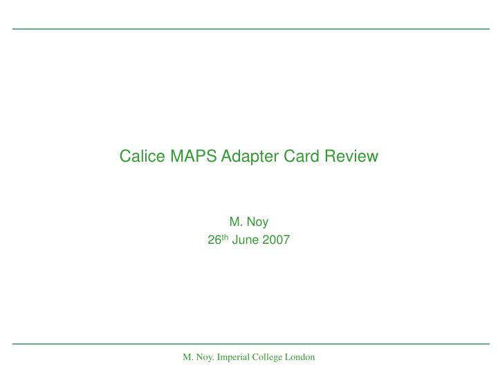 Calice maps adapter card review