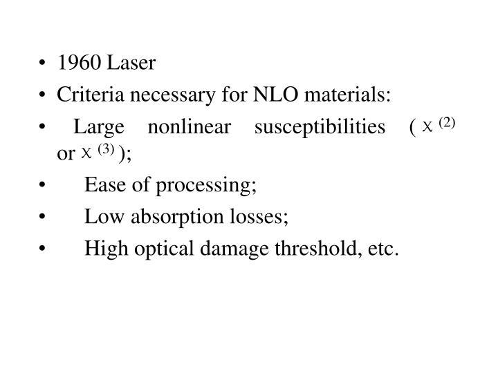 1960 Laser