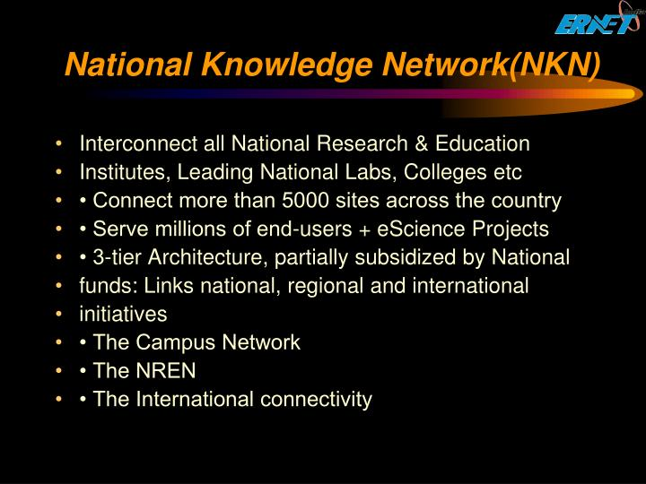 National Knowledge Network(NKN)