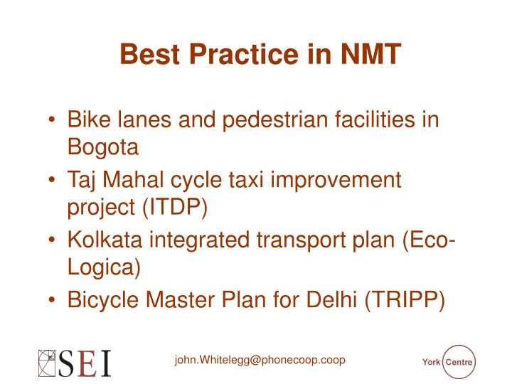 Best Practice in NMT