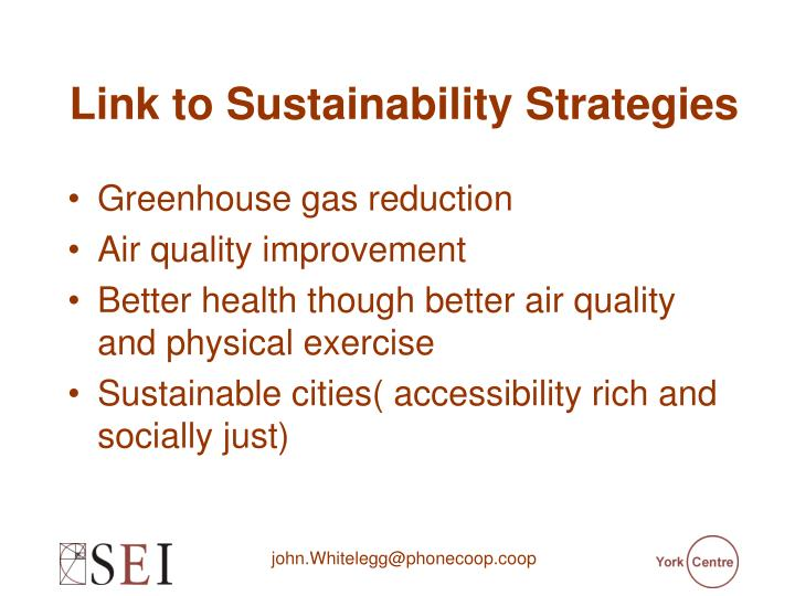 Link to Sustainability Strategies