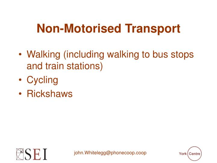 Non-Motorised Transport