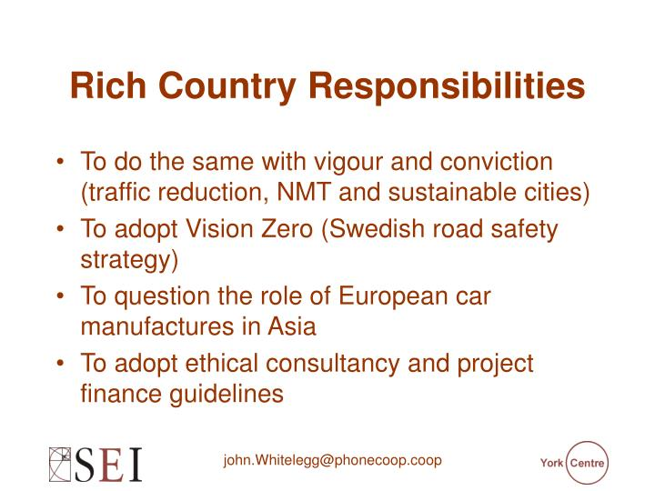 Rich Country Responsibilities