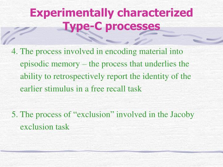 4. The process involved in encoding material into