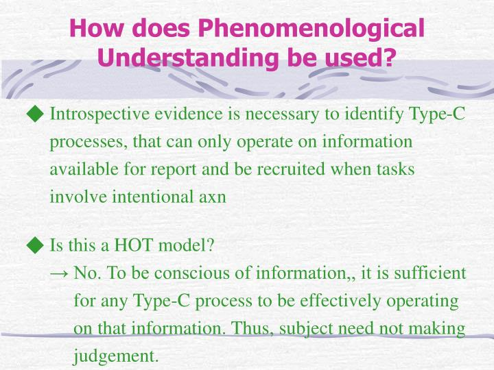 ◆ Introspective evidence is necessary to identify Type-C