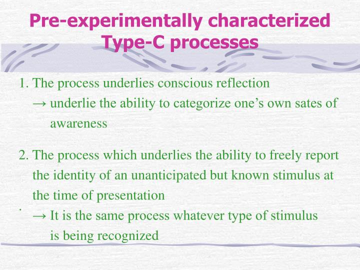 1. The process underlies conscious reflection