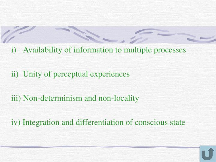 Availability of information to multiple processes