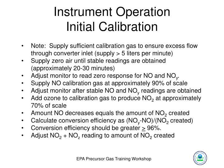 Instrument Operation