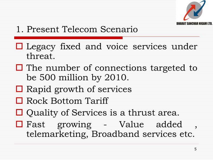 1. Present Telecom Scenario