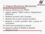 7 dispute resolution mechanism1