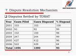 7 dispute resolution mechanism2