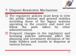 7 dispute resolution mechanism5