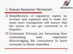 7 dispute resolution mechanism6