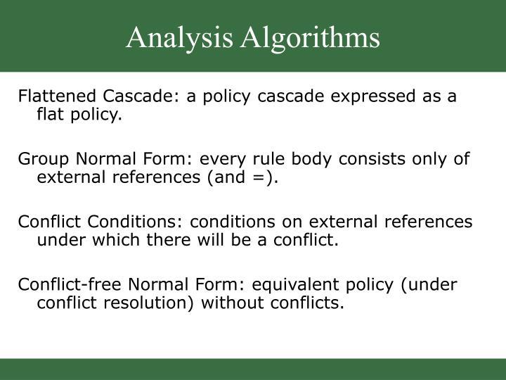 Analysis Algorithms