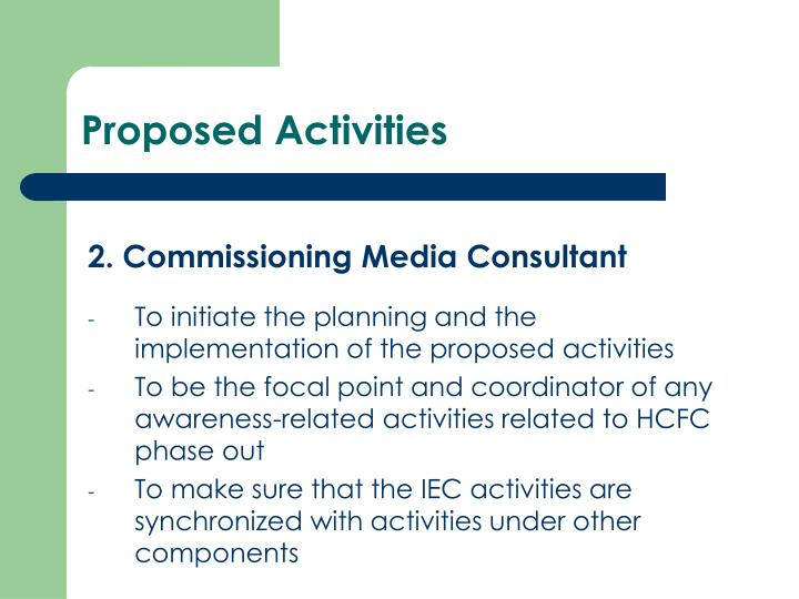 Proposed Activities