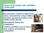 some of sri lanka s iec activities in the past