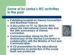 some of sri lanka s iec activities in the past1