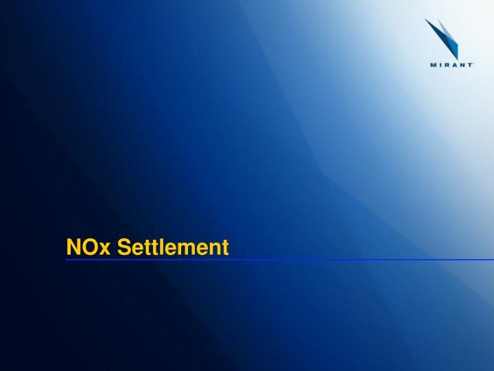 NOx Settlement