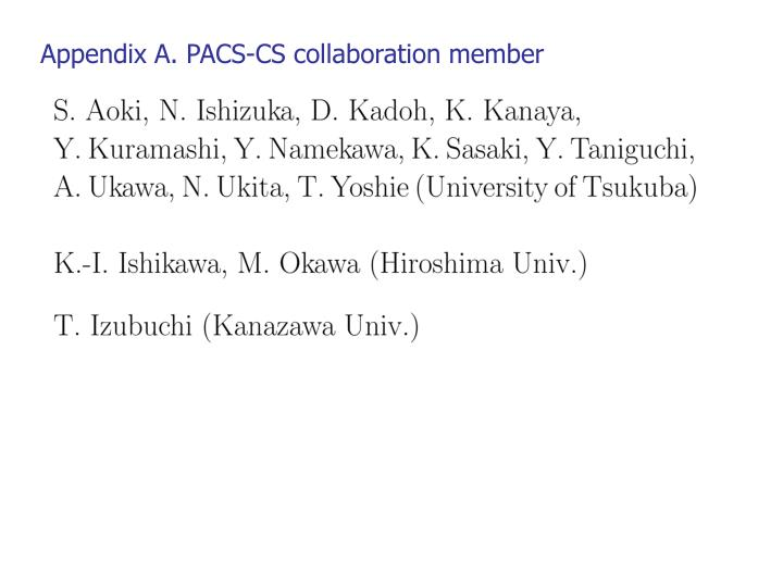 Appendix A. PACS-CS collaboration member