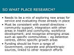 so what place research