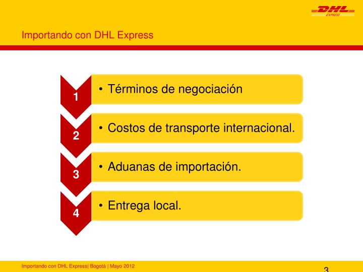 Importando con DHL Express