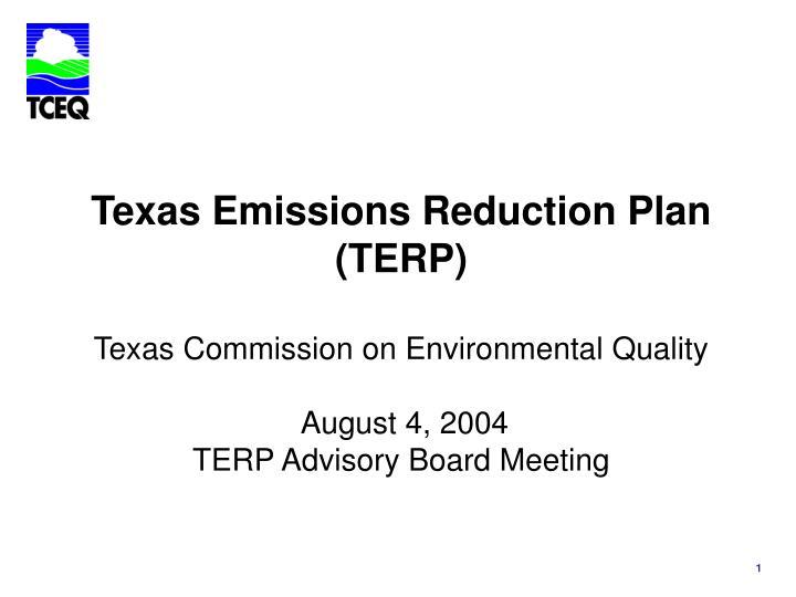 Texas Emissions Reduction Plan