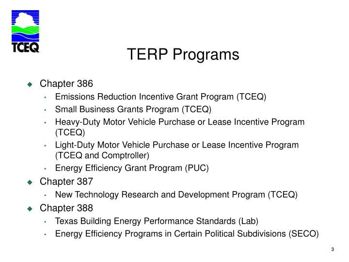 TERP Programs