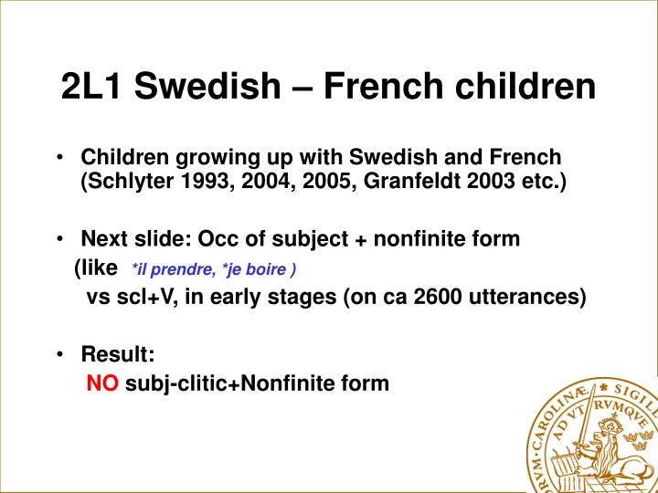 2L1 Swedish – French children