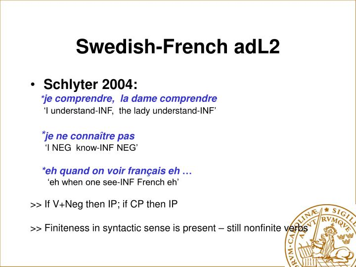 Swedish-French adL2