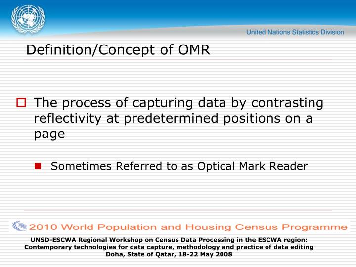 Definition/Concept of OMR