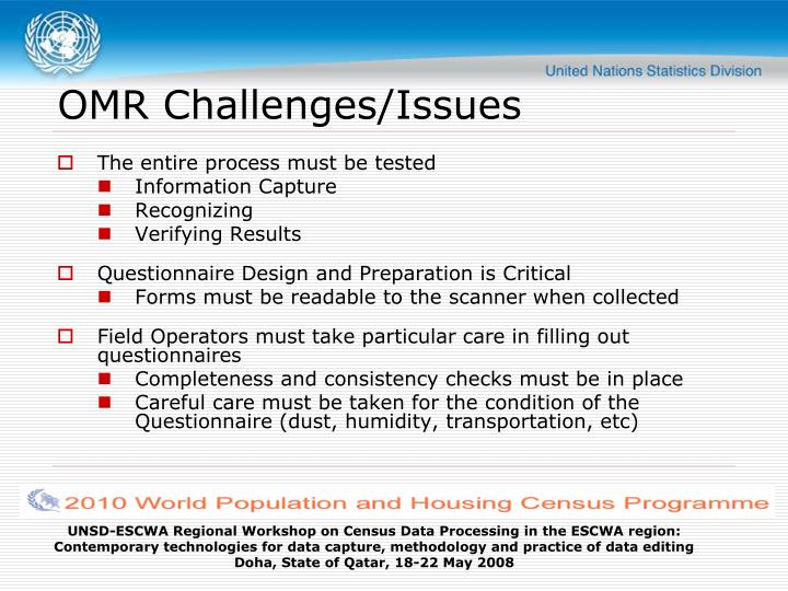 OMR Challenges/Issues