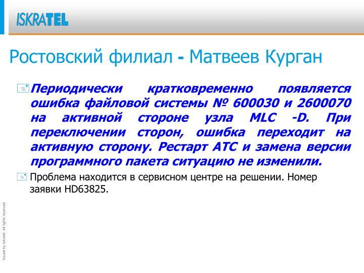 Ростовский филиал