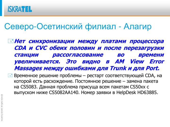 Северо-Осетинский филиал -