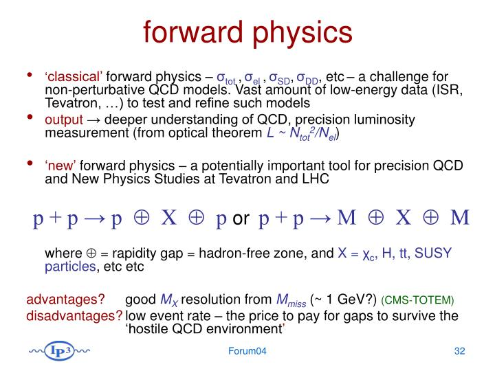 forward physics