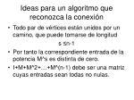 ideas para un algoritmo que reconozca la conexi n