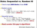 disks sequential vs random io