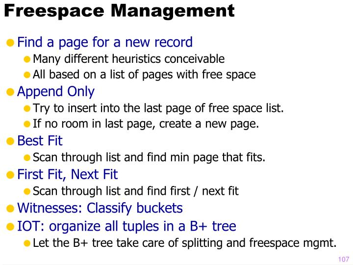 Freespace Management