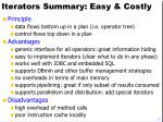 iterators summary easy costly